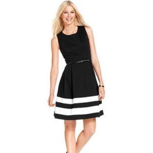 AA Studio AA Black Dress with White Stripes